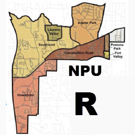 Neighborhood Planning Unit R, NPU R or NPU-R for Atlanta, GA